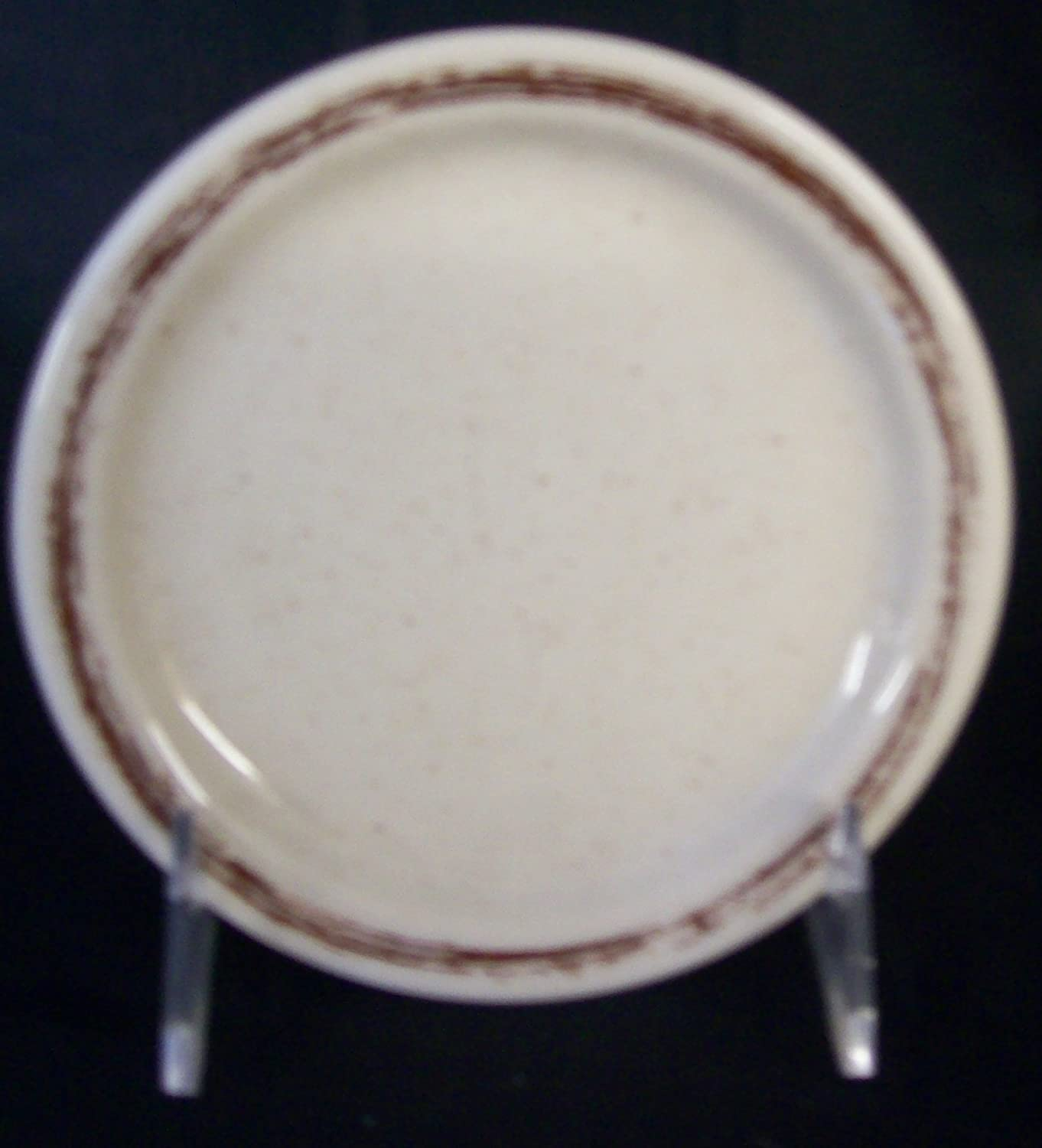 12 Shenango China Saucers Bombing new Outlet ☆ Free Shipping work With Trim Brown