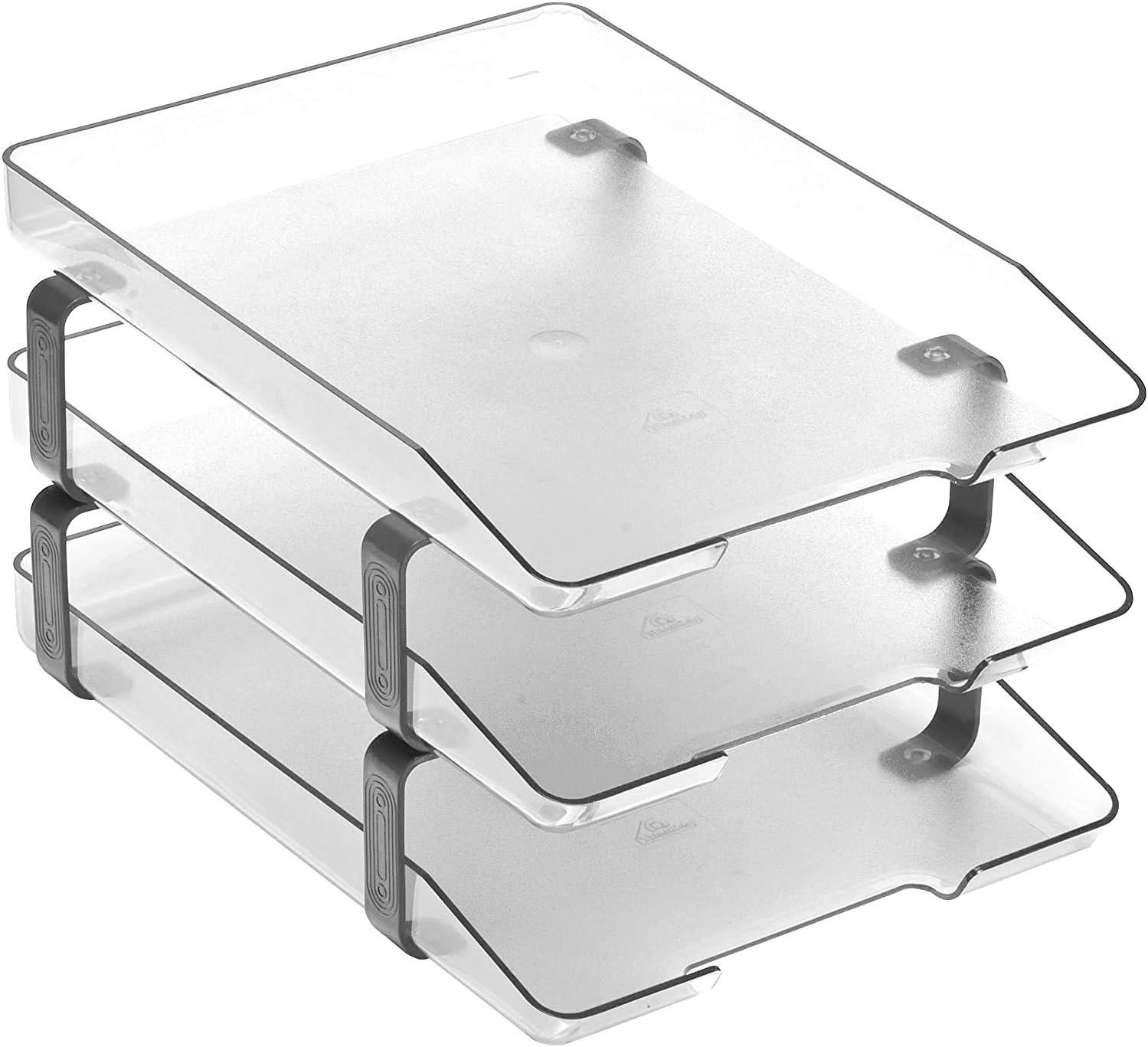 Acrimet Traditional Letter Tray 55% OFF 3 Front Load Deskto Sales for sale Tier Plastic