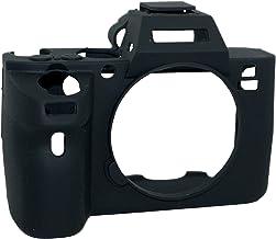 Protector de silicona gel caucho suave bolsa de la cámara de la cubierta de la bolsa compatible para Sony Alpha A7ii / A7Rii / A7sii cámara negro