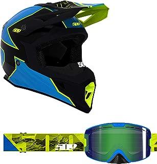 509 Tactical Helmet Goggle Combo - HiVis Blue (LG)