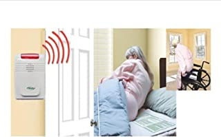 Cordless, Wireless Alarm with Both Bed & Chair Pads - No Alarm in Patient`s Room - Plus Kerr Antibacterial Cleansing Wipes.