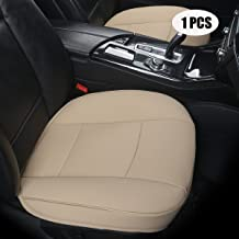 EDEALYN Ultra-Luxury PU Leather Car seat Protection car seat Cover for Most Four-Door Sedan&SUV,Single seat Without backrest 1pcs (W 20.8× D 21× T 0.35inch) (3D-Beige)