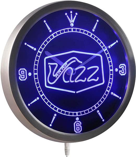 ADVPRO Nc0321 B Jazz Saxophone Bar Music Live Pub Club Neon Sign LED Wall Clock