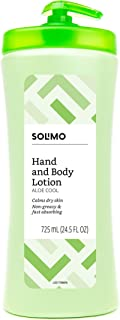 Amazon Brand - Solimo Aloe Cool Hand & Body Lotion, 24.5 Fluid Ounce