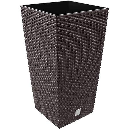Prosperplast Urbi Square ECO Vaso per Piante fioriera 2in1 incl 265x265x500mm Resistente Grigio Forma Quadrata