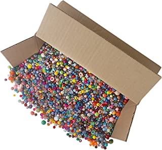 The Beadery Bonanza 5LB of Mixed Craft Beads, Sizes, Multicolor