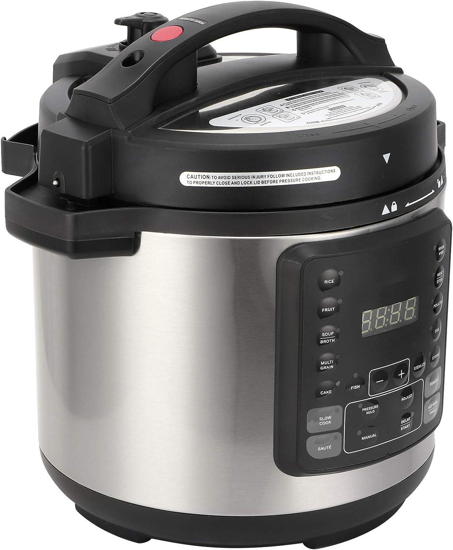 2 in 1 Pressure Cooker Air Fryer, US Plug 6L Multi-Use Programmable Slow Cooker Electric Rice Cooker Kitchen Utensils 120V