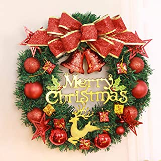 XFY Christmas Wreath Christmas Party Ornament Christmas Store Decoration Rattan Wreath PVC Anti Obstruction Material, Flying Deer Garland 15.75 inches