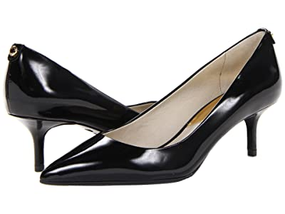 MICHAEL Michael Kors MK Flex Kitten Pump (Black Patent) High Heels