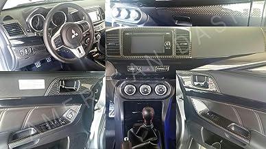 MITSUBISHI_LANCER_ES_SE_GTS_DE Mitsubishi Lancer Interior de Fibra de Carbono Real Dash Juego de Acabados Set 2013 2014 2015 2016 2017