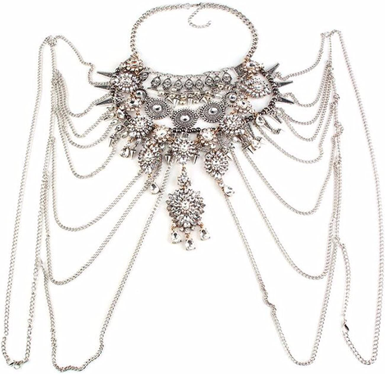 Multi Layer Necklace Fashion Atmosphere Austin Mall Pers Diamond Exaggerated Raleigh Mall