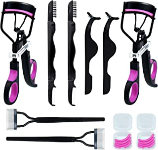 Eyelash Curler for Women, Heliltd 2 Set 8 In 1 Eyelash Curlers Kit Including Lash Curler, Eyelash Extension Tweezers, Eyel...