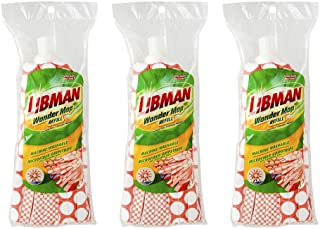 Libman Wonder Refill Pack – for Powerful Cleanup – Three Absorbent Wet Mop..