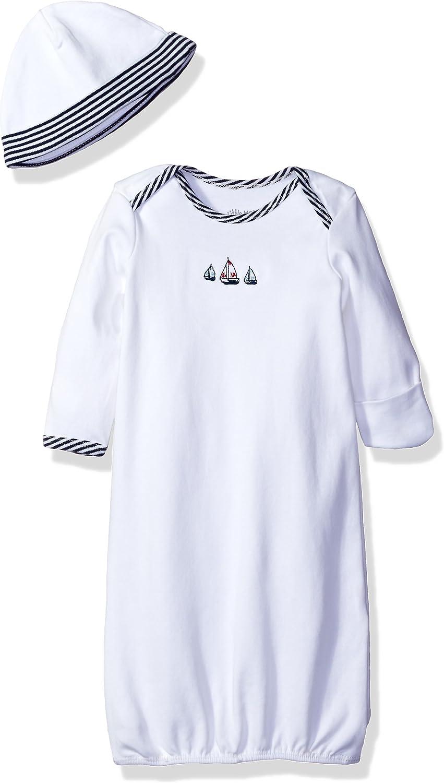 Little Me Boys' 2-Piece Gown & Hat Set