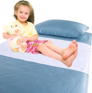 Chummie Luxury Reusable Rayon Bamboo Waterproof Bedding Overlay for Children and Teens with Bedwetting and incontinence, Soft Rayon Bamboo Fibers Holds Up To 6 Cups Of Urine, Machine Washable, Dryer Friendly, 40