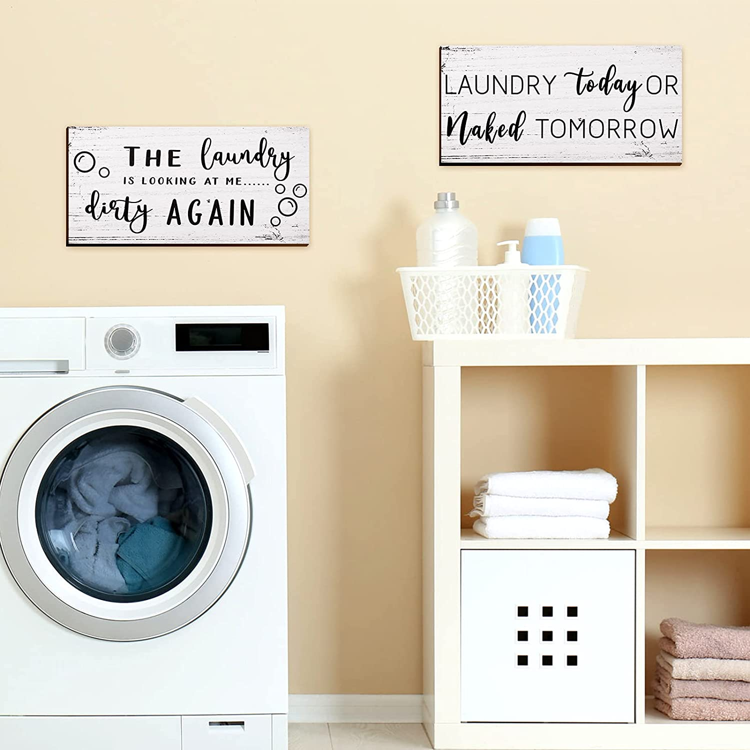 Buy 20 Pieces Laundry Room Decor Sign Rustic Farmhouse Laundry ...