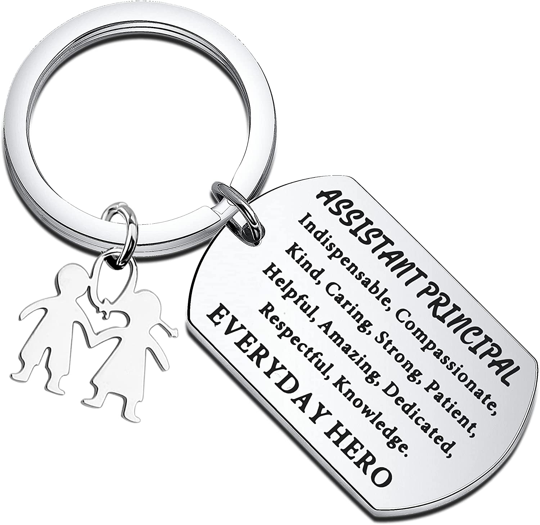 MAOFAED Assistant Principal Gift School Principal Keychain Retirement Gift for Principal Teacher