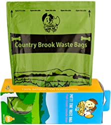 Country Brook Petz - Lavender Scented Potty Time Waste Bags - No Hassle Dog Poop Bags (Single Roll, 300 Count)