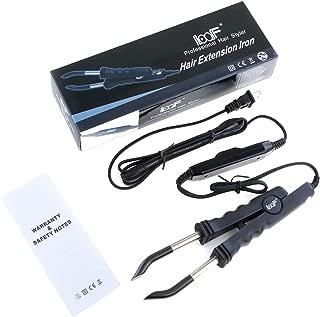 Vlasy Flat Shape Fusion Connector Iron Wand Heat Tools For Keratin Bonded Hair Extensions USA Plug (Black)