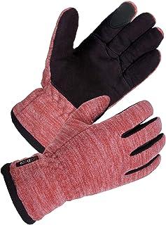 SD8665T (M) - SKYDEER دستکش های صفحه لمسی زمستانی زنان SKYDEER با چرم نرم Deerskin Suede و گرم قطبی ضد باد گرم