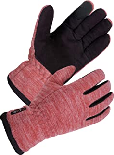 SKYDEER Women's Touch Screen Winter Gloves with Soft Deerskin Suede Palm, Windproof Warm Fleece Back and Thermal 3M Thinsulate Insulation for Running Driving Cycling in Cold Weather (SD8665T/L)