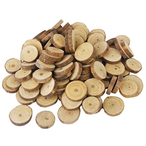 Imported Phenovo Pine Wood Slices for DIY Crafts Wedding Decor 100pcs