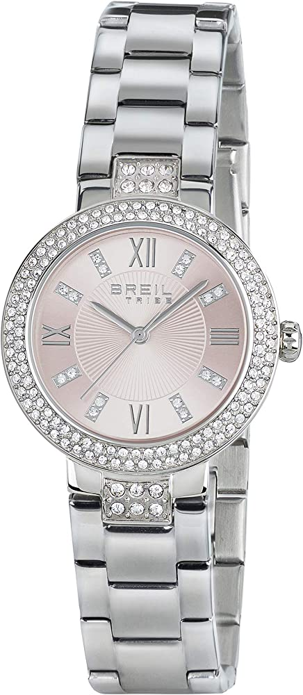 Breil,orologio per donna, in acciaio con cristalli EW0256