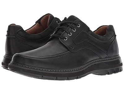 Clarks Un Ramble Lace (Black Tumbled Leather) Men