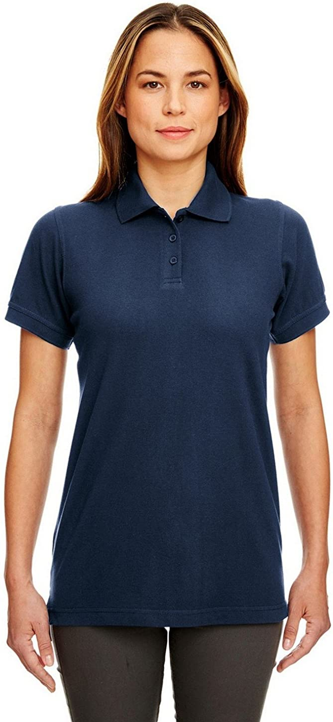 UltraClub 8530 Ladies Classic S-Sleeve Pique Polo Navy X-Small