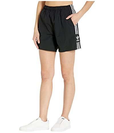 adidas Originals adiColor Lock Up Logo Shorts (Black/White) Women