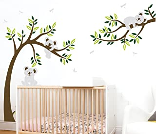 Nursery Wall Decals~Family Tree Wall Decal Koala Wall Stickers for Kids Babies Bedroom Wall Decoration (225cm Width x 150cm Height) Multi 43224-11796