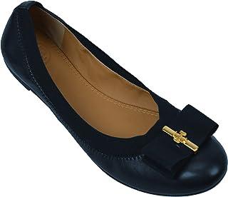 889718c15f9f Tory Burch Womens Sedgewick 2 Ballet Leather Flats Perfect Navy