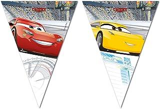 Procos 87805 - vlaggenbanner Cars, met 9 vlaggetjes, hangdecoratie, kinderverjaardag