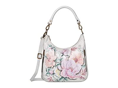 Anuschka Handbags 662 Convertible Slim Hobo with Crossbody Strap (Bel Fiori) Handbags