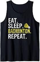 Eat Sleep Badminton Repeat Sports Gift Tank Top