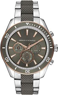 Armani Exchange Mens Chronograph Quartz Watch with Stainless Steel Strap AX1830