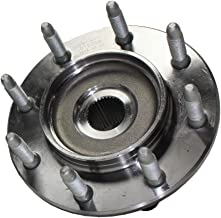 Detroit Axle - Front Wheel Hub and Bearing Assembly Driver or Passenger Side fits 4×4 4WD Only for 1999-2007 Chevy Silverado Avalanche Suburban GMC Sierra Yukon Hummer H2 1500HD 2500 2500HD - 8 Lug