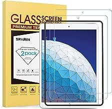 SPARIN [Lot de 2] Compatible avec Verre Trempé iPad Pro 10.5 2017/iPad Air 3 2019, [Outil D'alignement Facile] Protection Ecran Film Protecteur, [sans Bulles] [Haut Définition] [2.5D/9H Dureté]