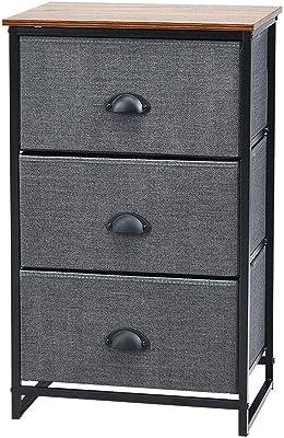 Amazon.com: Atlin diseños 3 cajón de altura mesita de noche ...