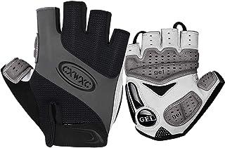 CXWXC Cycling Gloves for Men Women - Breathable Gel Road Mountain Bike Riding Gloves - Anti-Slip Half Finger Glove for Fit...