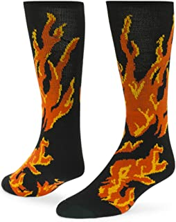Flame Knee-high Sock (Black - Small)