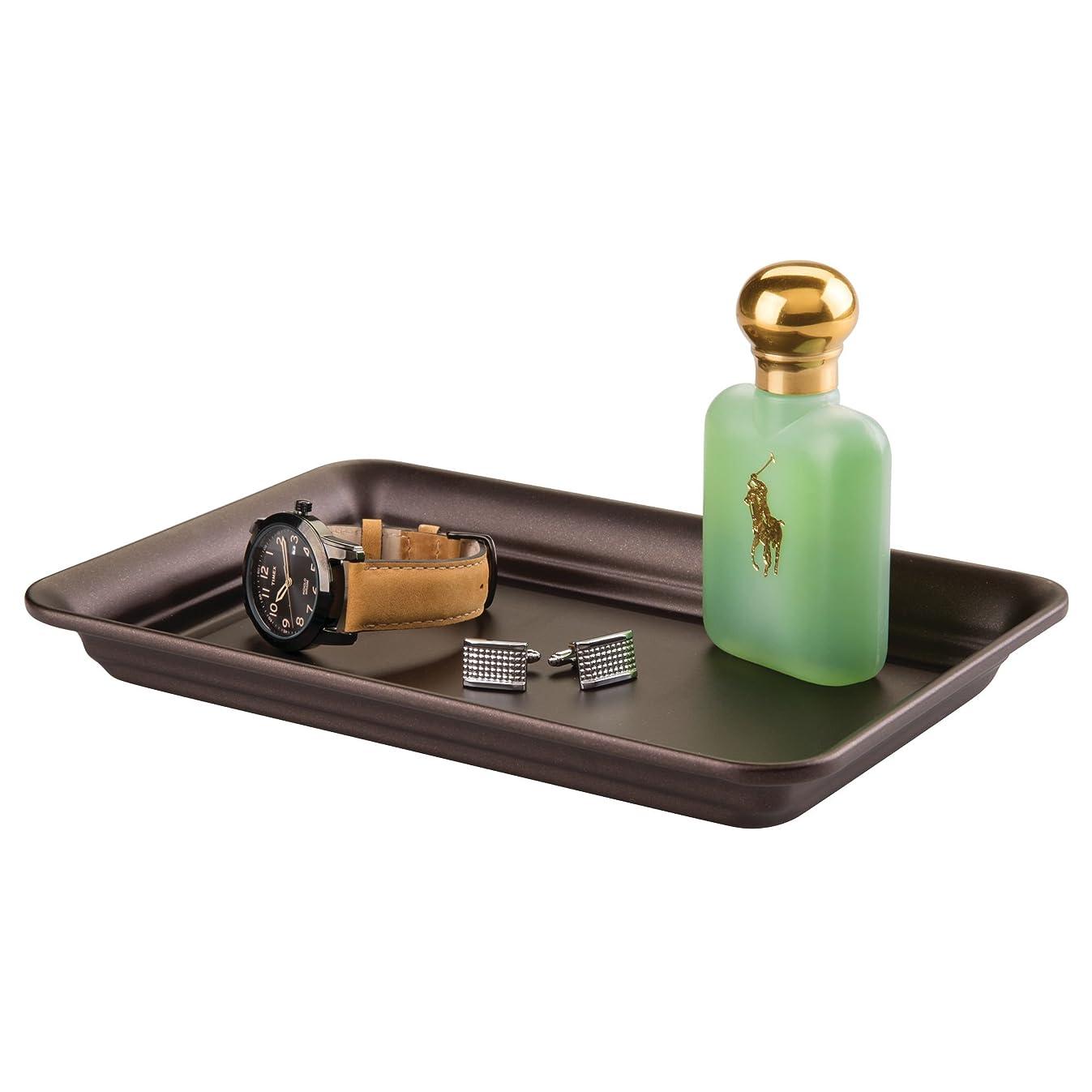 interDesign Metal Vanity Tray, Non-Slip Guest Towel Board for Cosmetics, Makeup, Jewelry, Keys, Bathroom, Kitchen, Office, Countertops, Closets Storage Organization, 6.5