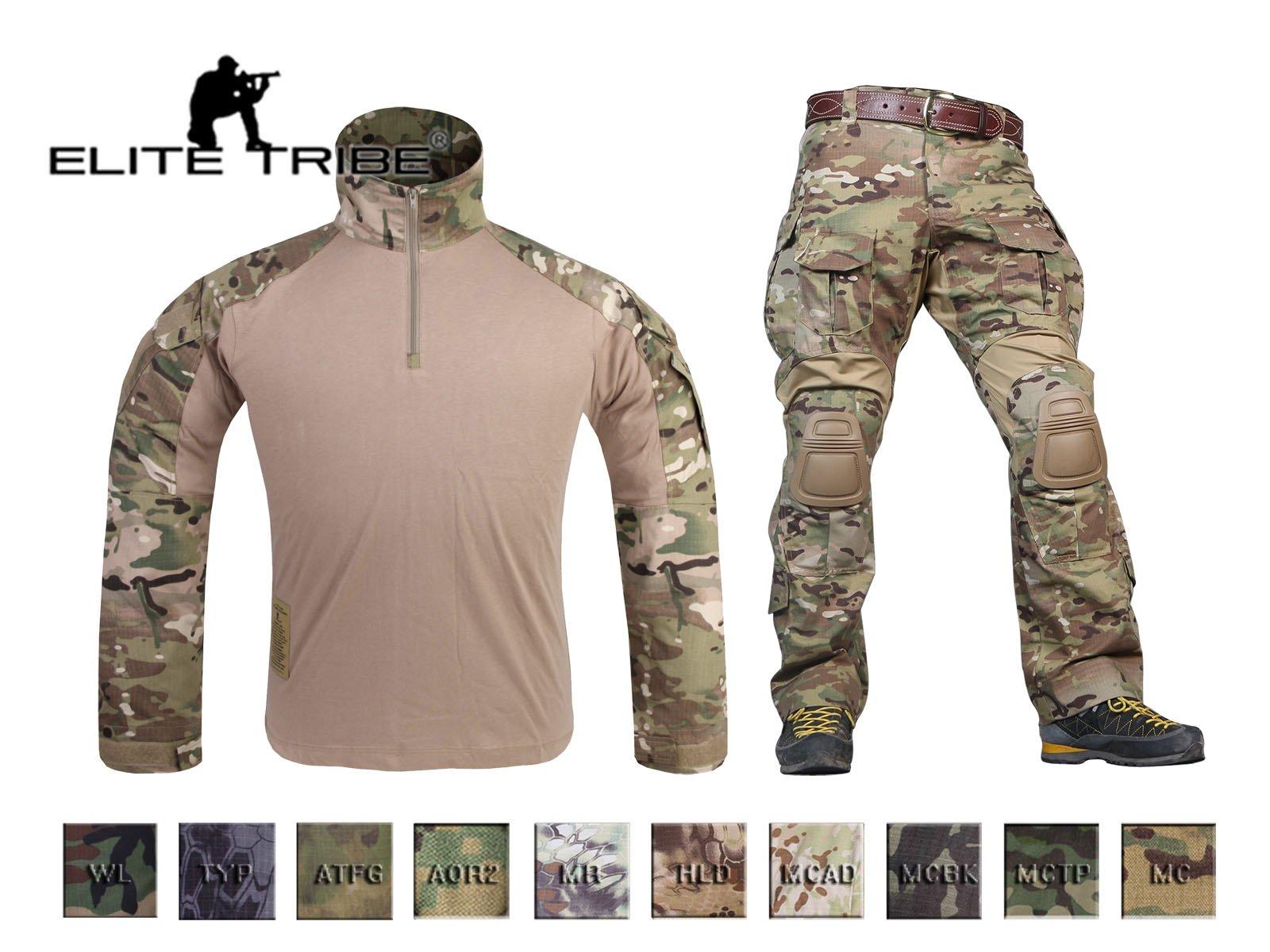 Elite Tribe Airsoft Military BDU - Pantalones de Uniforme para Camisa de Combate Gen3, XL, Multicam Tropic: Amazon.es: Deportes y aire libre