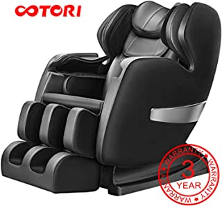 OOTORI Massage Chair, Luxurious Electric Full Body Zero Gravity Shiatsu Massaging Chair Recliner with Heating Back, Bluetooth,Foot Roller and Air Massage System for Home OfficeRelax Black