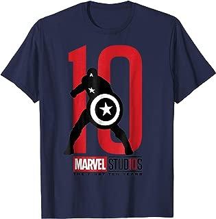 Marvel Studios 10 Years Captain America Graphic T-Shirt