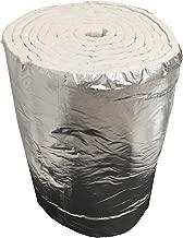 Aislante de fibra cerámica eco + aluminio, rollo de 7,30m x 61cm, grosor de 25mm,  densidad de 64kg/m3