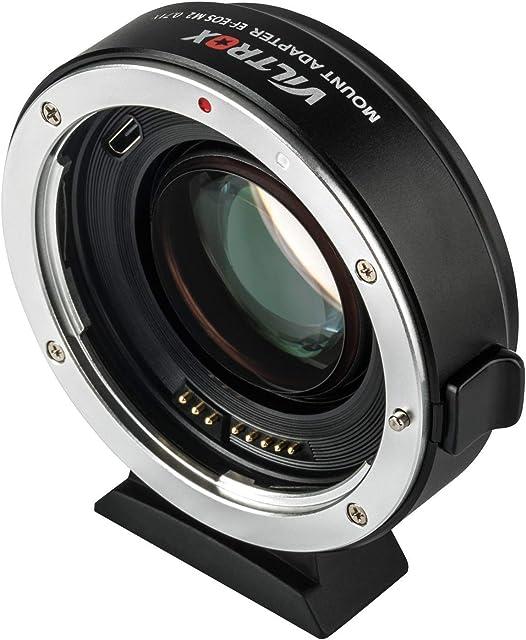 VILTROX EF-EOS M2 Adaptador de lente de enfoque automático para Canon EF a EOS EF-M sin espejo Serie M cámaras M2 M3 M5 M6 M10 M50 M100 Reductor de enfoque automático 0.71 aumentador de velocidad