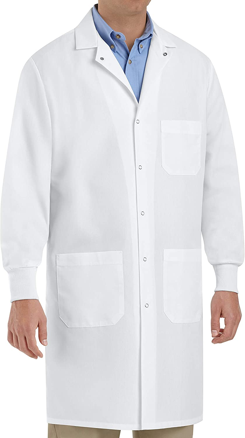 Red Kap Unisex Specialized Cuffed Lab Coat with 3 Front Pockets