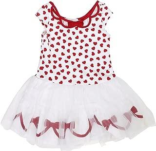 Biscotti Girls Ballerina Tutu Dress, Red/White, (Red/White, 6X/7)