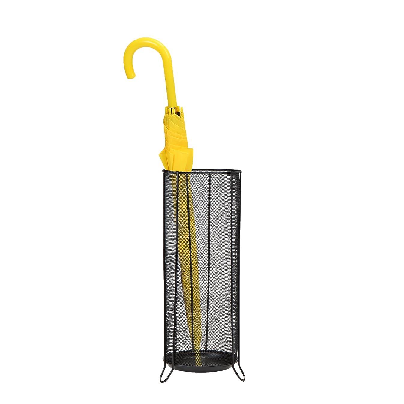 Mind Reader Umbrella Stand Rack Holder for Canes, Walking Sticks, Home and Office, Black
